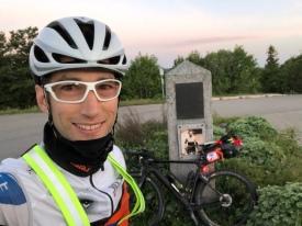 Kontrollstelle vor Tour de France Denkmal auf dem Ballon d'Alsace