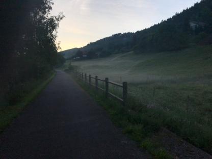 Nebelschwaden im Tal