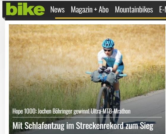 Presse – bike Magazin – Mit Schlafentzug  im Streckenrekord zumSieg
